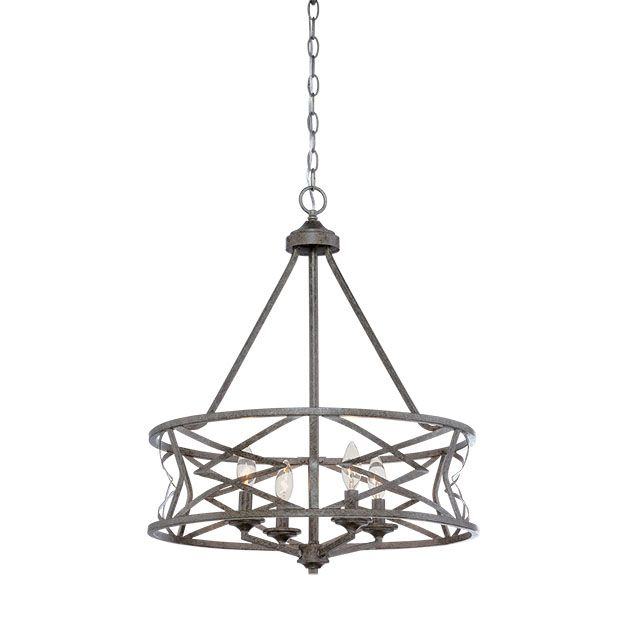 Millennium Lighting Lakewood 4-light chandelier in antique silver - Top 20 Chandeliers - Lights Online Blog