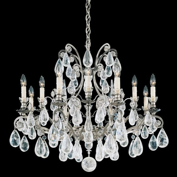 Schonbek versailles 12 light antique pewter chandelier traditional schonbek versailles 12 light antique pewter chandelier traditional chandeliers chandeliers aloadofball Images