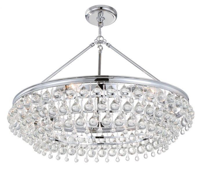 Crystorama calypso 6 light crystal teardrop chandelier in chrome crystorama calypso 6 light crystal teardrop chandelier in chrome transitional chandeliers chandeliers aloadofball Images