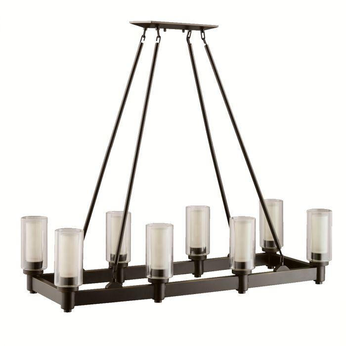 kichler circolo 8 light chandelier in olde bronze contemporary