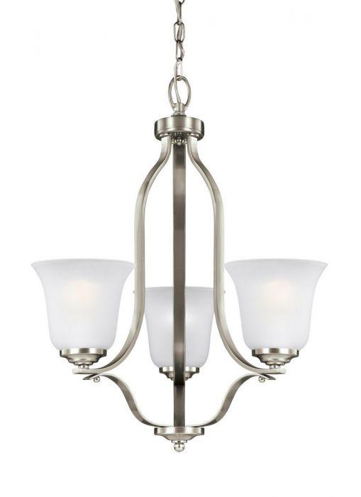 Sea Gull Emmons 3-light chandelier in brushed nickel - Top 20 Chandeliers - Lights Online Blog