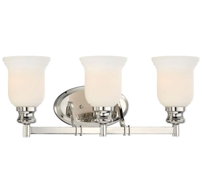 Minka Lavery Audreys Point 3 Light Bath Vanity In Polished Nickel   Bath  Lights   Wall Lights