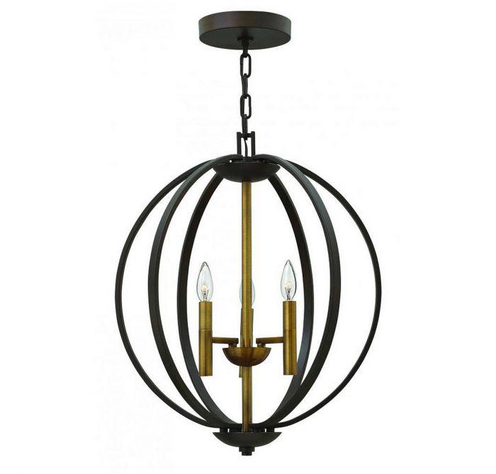 Hinkley euclid 245 3 light orb chandelier in spanish bronze hinkley euclid 245 3 light orb chandelier in spanish bronze transitional chandeliers chandeliers aloadofball Images