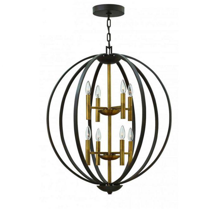 Hinkley euclid 33 8 light orb chandelier in spanish bronze hinkley euclid 33 8 light orb chandelier in spanish bronze transitional chandeliers chandeliers aloadofball Images