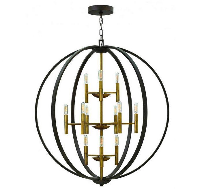 Hinkley euclid 41 12 light orb chandelier in spanish bronze hinkley euclid 41 12 light orb chandelier in spanish bronze transitional chandeliers chandeliers aloadofball Gallery