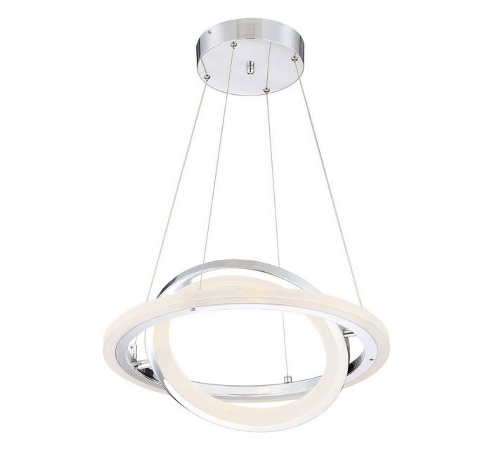 Arnsberg Saturn LED Pendant Light In Chrome   Pendant Lights   Ceiling  Lights