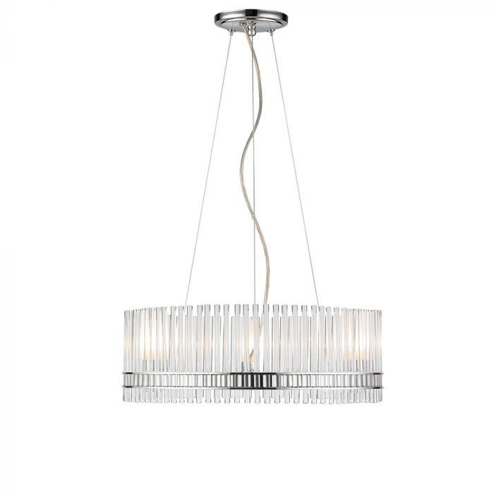 Golden Lighting Luciano 6-light chandelier in chrome - Top 20 Chandeliers - Lights Online Blog