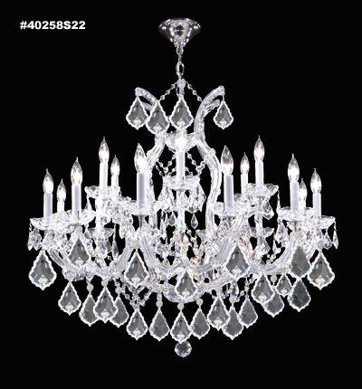 James r moder impact maria theresa 19 light chandelier in silver w james r moder impact maria theresa 19 light chandelier in silver wimperial crystal crystal chandeliers chandeliers aloadofball Images