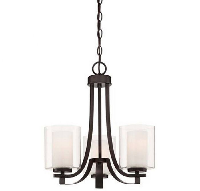Minka Lavery Parsons Studio 3-light mini chandelier in smoked iron - Top 20 Chandeliers - Lights Online Blog