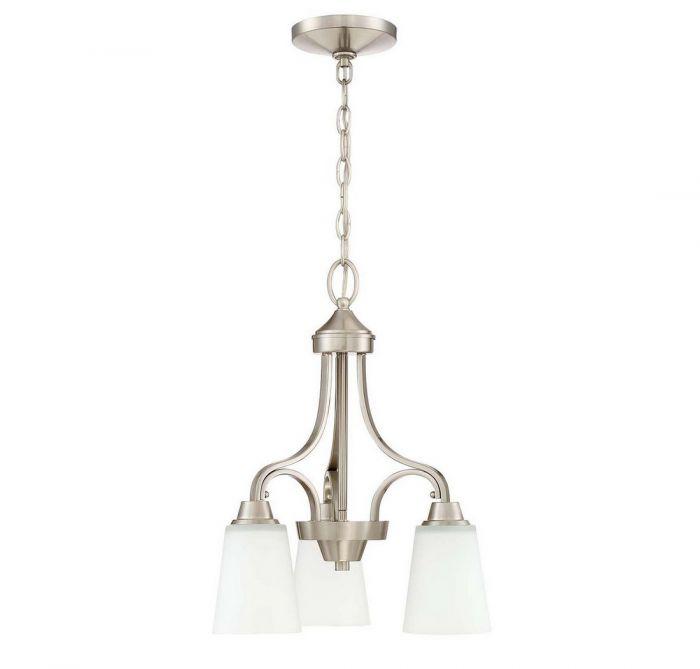 Jeremiah Grace 3-light chandelier in brushed nickel - Top 20 Chandeliers - Lights Online Blog