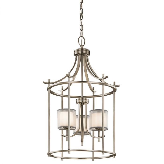Kichler tallie 20 3 light chandelier foyer in antique pewter kichler tallie 20 3 light chandelier foyer in antique pewter transitional chandeliers chandeliers aloadofball Images