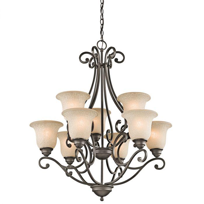 Kichler Camerena 9-light chandelier in olde bronze - Top 20 Chandeliers - Lights Online Blog