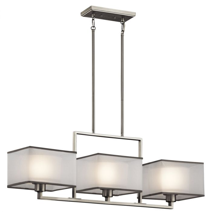Kichler Kailey 3-light chandelier in brushed nickel - Top 20 Chandeliers - Lights Online Blog