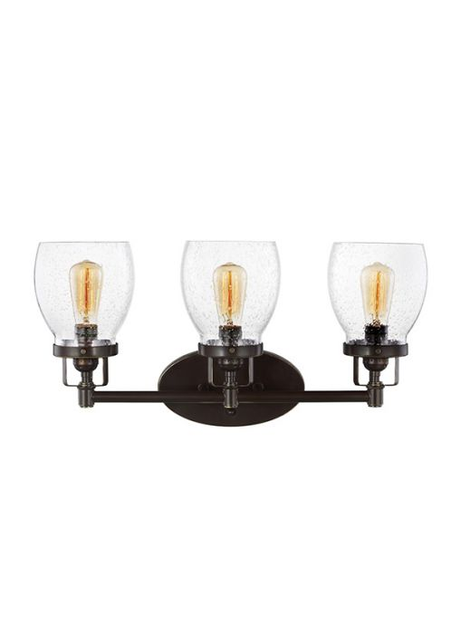 Sea Gull Lighting Belton 3 Light Bath Vanity In Heirloom Bronze Lights Wall