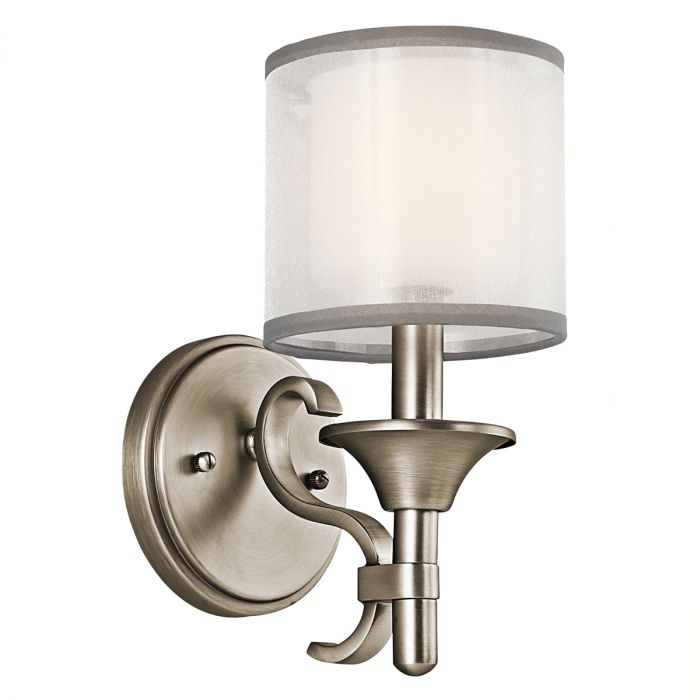 Kichler Lacey Wall Sconce In Antique Pewter Wall Sconces Wall Lights