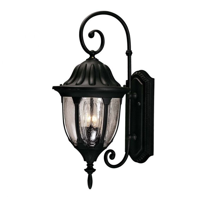 Savoy House Tudor 2 Light Outdoor Wall Lantern In Textured Black Lights