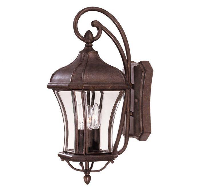 Savoy House Realto 21 3 Light Outdoor Wall Lantern In Walnut Patina Lights