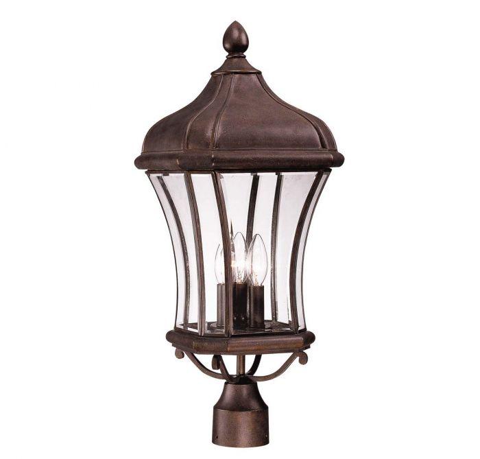 Savoy House Realto 3-Light Post Lantern in Walnut Patina - Outdoor Post Lights - Outdoor Lights  sc 1 st  LightsOnline.com & Savoy House Realto 3-Light Post Lantern in Walnut Patina - Outdoor ...