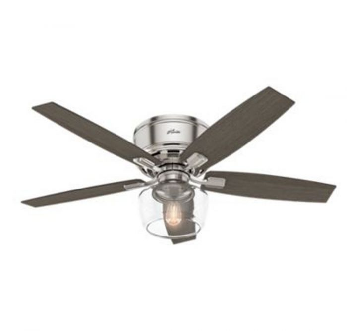 Hunter bennett 52 led indoor clear ceiling fan in brushed nickel hunter bennett 52 led indoor clear ceiling fan in brushed nickelchrome indoor ceiling fans ceiling fans mozeypictures Gallery