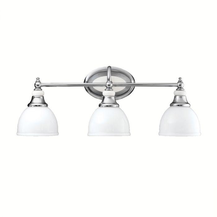 Kichler Pocelona 3-Light Bath Vanity in Chrome - Bath Lights