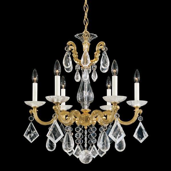 Schonbek la scala 6 light rock crystal chandelier crystal schonbek la scala 6 light rock crystal chandelier crystal chandeliers chandeliers aloadofball Images