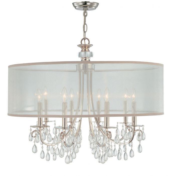 Crystorama Hampton 8-light chandelier in polished chrome - Top 20 Chandeliers - Lights Online Blog