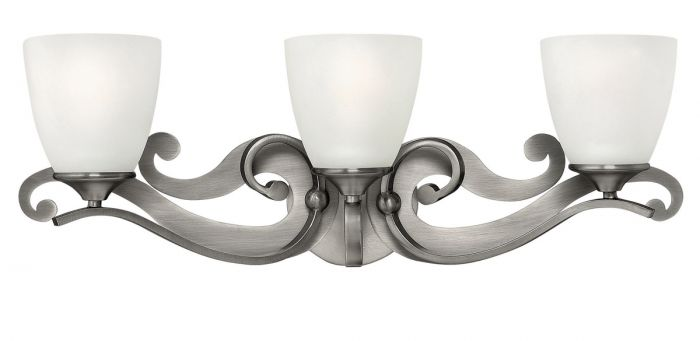 hinkley reese 3 light bath in antique nickel finish bath lights