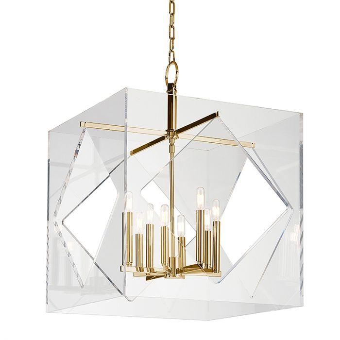 Hudson Valley Travis 8 Light Chandelier In Aged Brass Contemporary Chandeliers