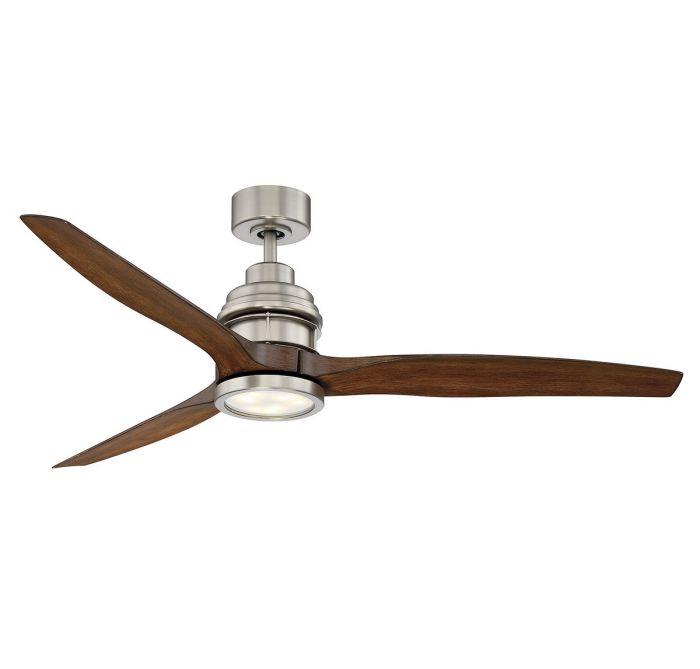 Savoy House La Salle 60 3 Blade Ceiling Fan In Satin Nickel Indoor Fans