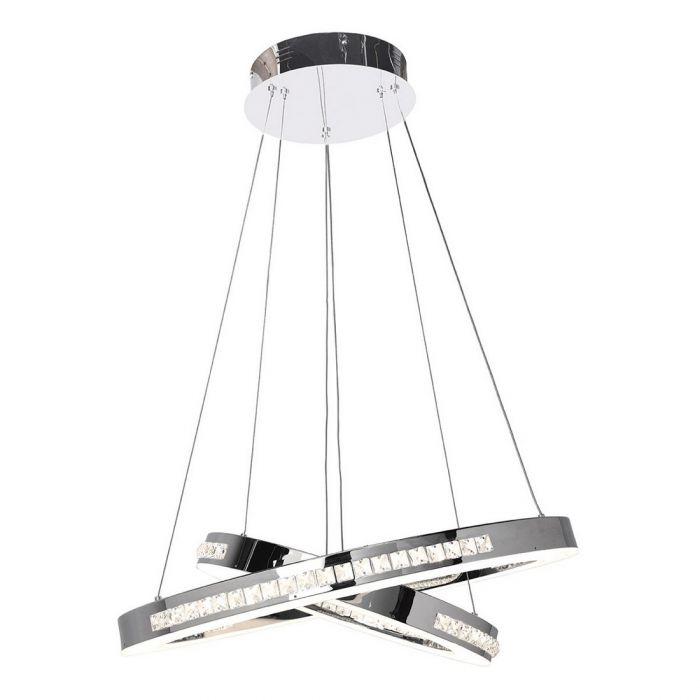 Access Lighting Affluence 2 Light Led Dual Ring Pendant In Chrome Lights Ceiling