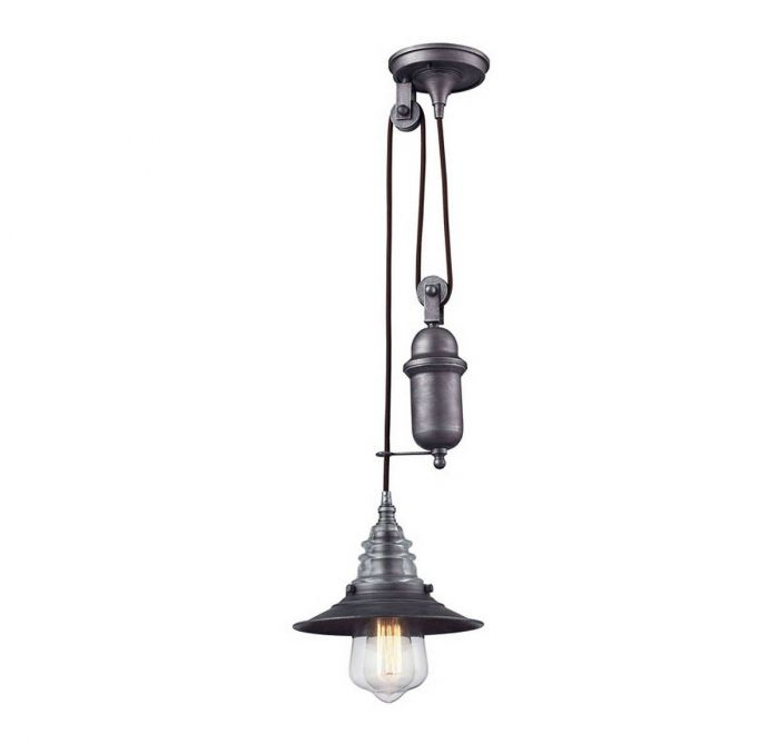 Elk insulator glass pulldown pendant in weathered zinc pendant elk insulator glass pulldown pendant in weathered zinc pendant lights ceiling lights aloadofball Choice Image