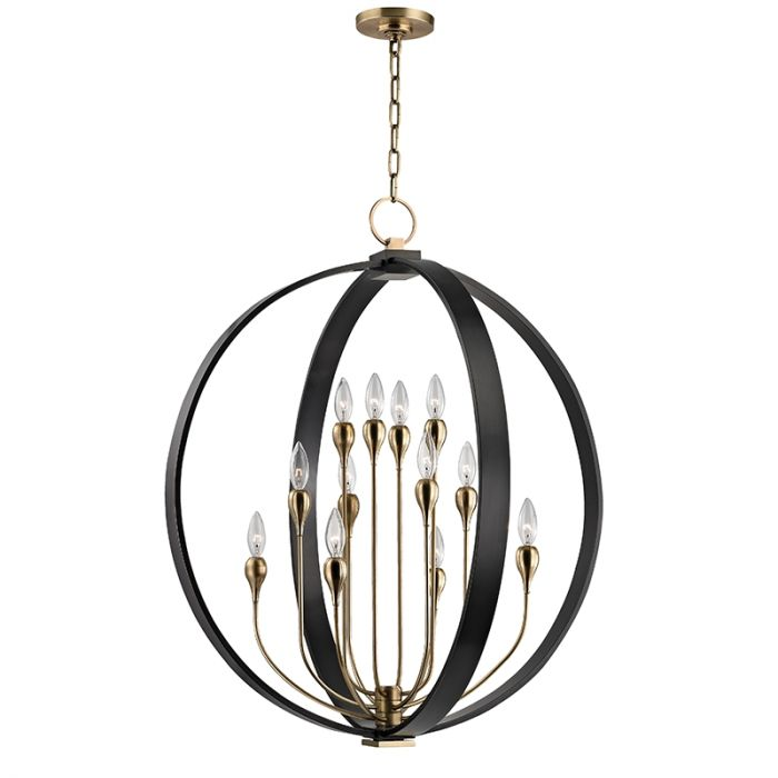 Hudson Valley Dresden 8 Light 30 Chandelier In Aged Old Bronze Globe Sphere Chandeliers