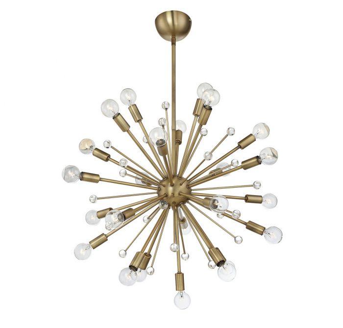Savoy House Galea 24 Light Chandelier In Warm Brass Contemporary Chandeliers
