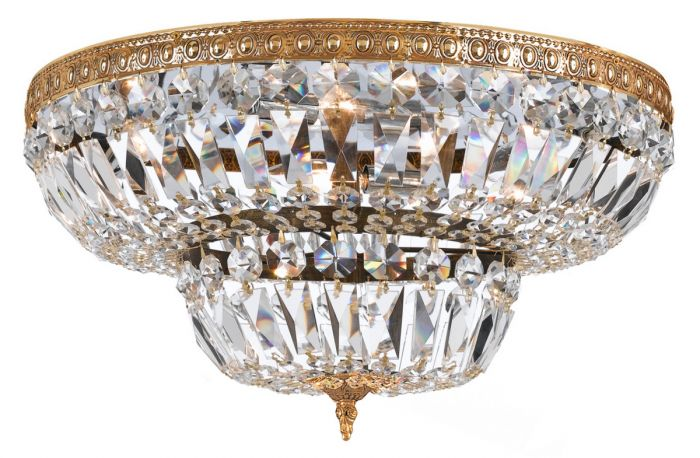 Crystorama Richmond 8 Light Swarovski Elements Crystal Flush Mount Lights Ceiling