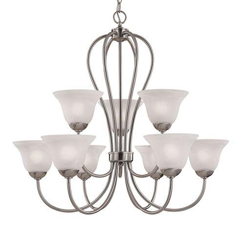 Millennium Lighting Main Street 9-light chandelier in satin nickel - Top 20 Chandeliers - Lights Online Blog