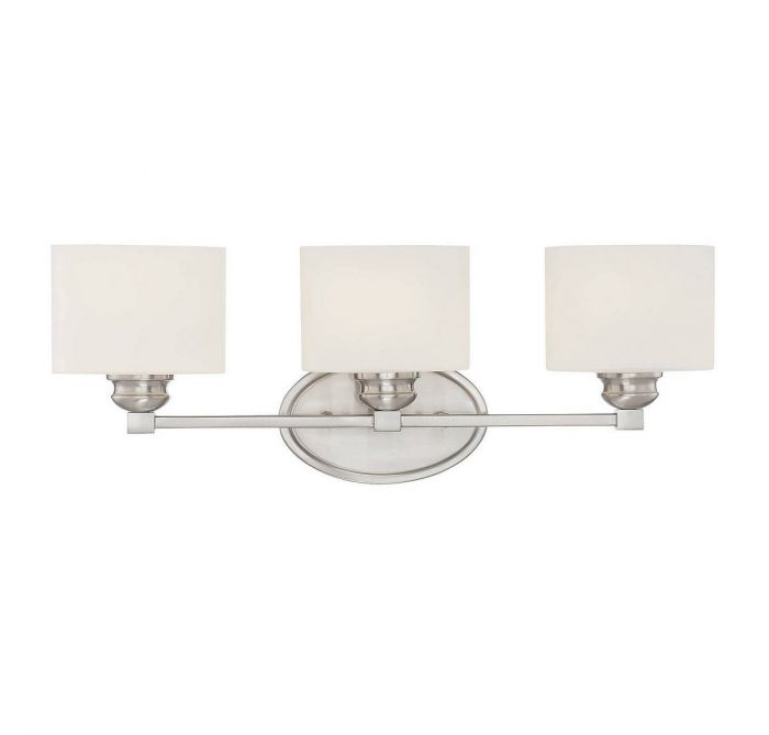 Savoy house kane 3 light vanity bar in satin nickel bath lights skip to the end of the images gallery aloadofball Images