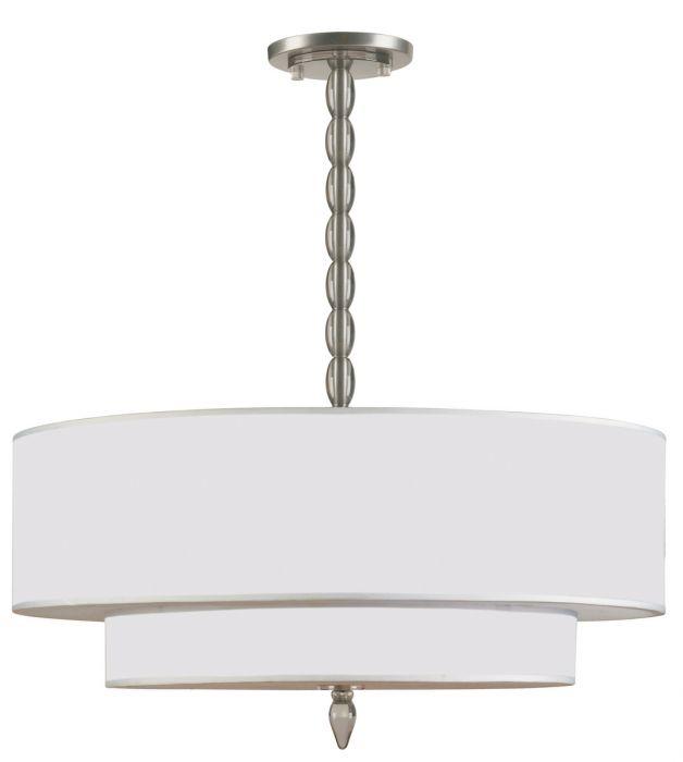 Crystorama luxo 5 light drum shade chandelier in satin nickel drum crystorama luxo 5 light drum shade chandelier in satin nickel drum shade chandeliers chandeliers aloadofball Images