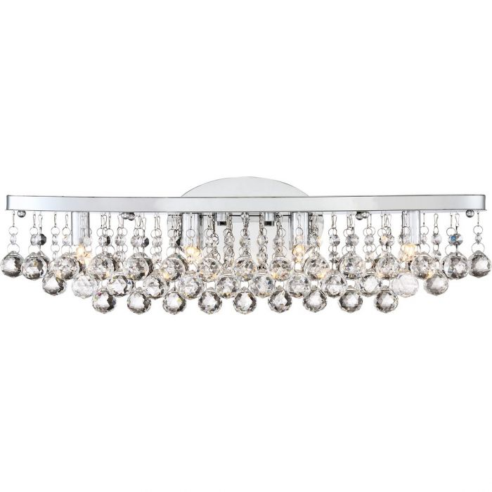 Quoizel Bordeaux 22 78 4 Light Bath Vanity In Polished Chrome Lights Wall