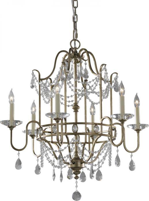 Feiss gianna 6 light single tier chandelier crystal chandeliers feiss gianna 6 light single tier chandelier crystal chandeliers chandeliers aloadofball Images