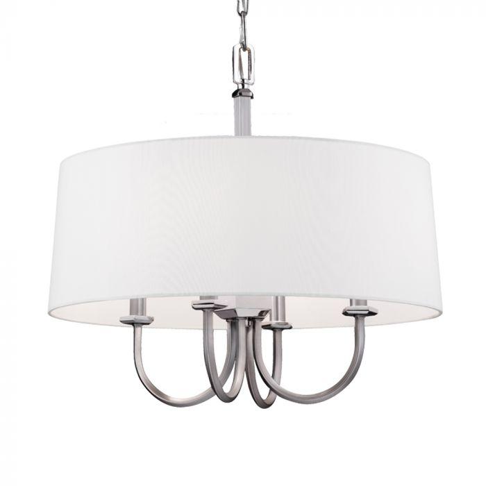 Feiss Pentagram 4-light chandelier in satin nickel with polished nickel - Top 20 Chandeliers - Lights Online Blog