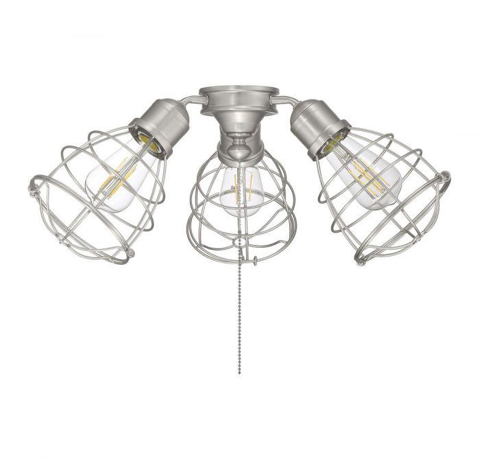 satin nickel ceiling fan light kit