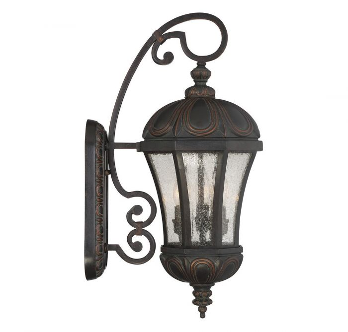 savoy house ponce de leon 3 light outdoor wall lantern in old tuscan