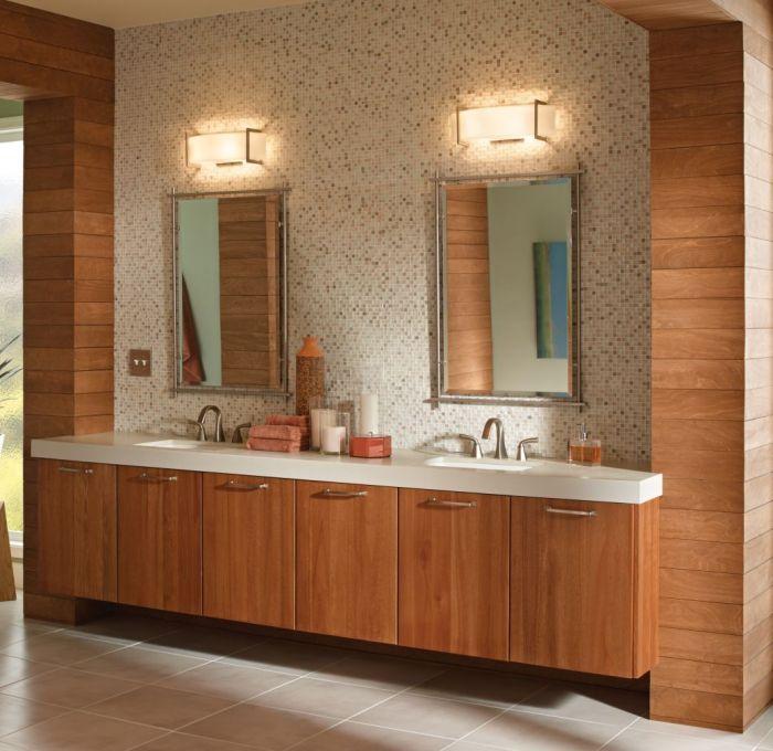 Kichler Crescent View 2-Light Bath Vanity in Brushed Nickel - Bath ...