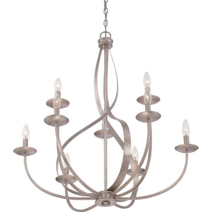 quoizel serenity 9 light chandelier in italian fresco traditional
