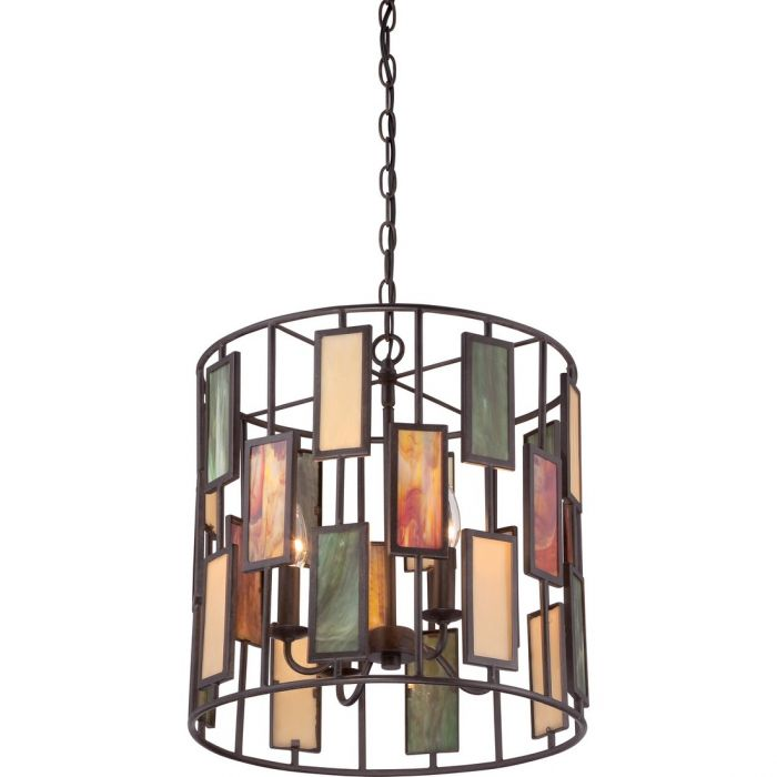 quoizel tiffany 4 light 17 5 pendant in imperial bronze pendant