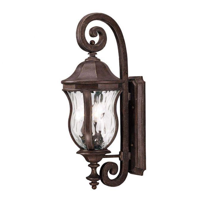 Savoy House Monticello 3 Light Outdoor Wall Lantern In Walnut Patina Lights