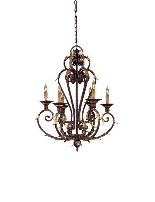 Metropolitan zaragoza 6 lt chandelier in golden bronze traditional metropolitan zaragoza 6 lt chandelier in golden bronze traditional chandeliers chandeliers aloadofball Gallery