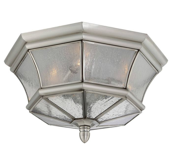 quoizel newbury 8 3 light outdoor flush mount in pewter outdoor