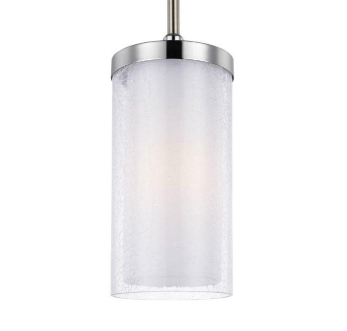 Feiss Jonah 1 Light Mini Pendant In Satin Nickel Chrome Pendants Lights Ceiling
