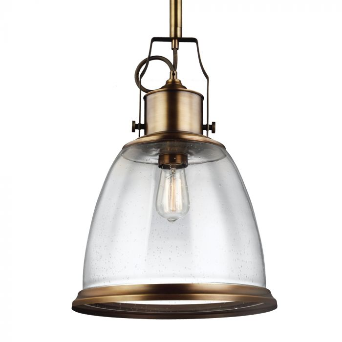 Feiss hobson 14 pendant in aged brass finish w clear seeded glass feiss hobson 14 pendant in aged brass finish w clear seeded glass pendant lights ceiling lights aloadofball Image collections